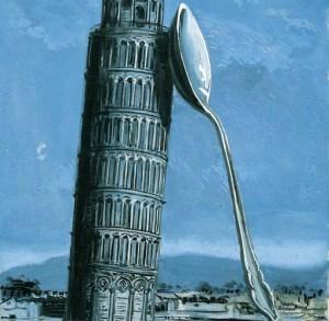 Magritte torre pendente