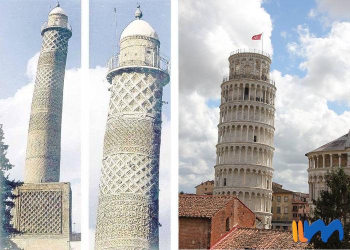 torre di Pisa minareto di Mossul