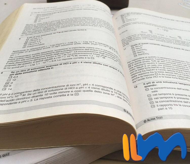 Alpha Test pour examens d'admission pour les Facultés Scientifiques des Universités italiennes.