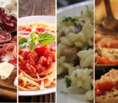 Qu'y a-t-il sur la table des Italiens?